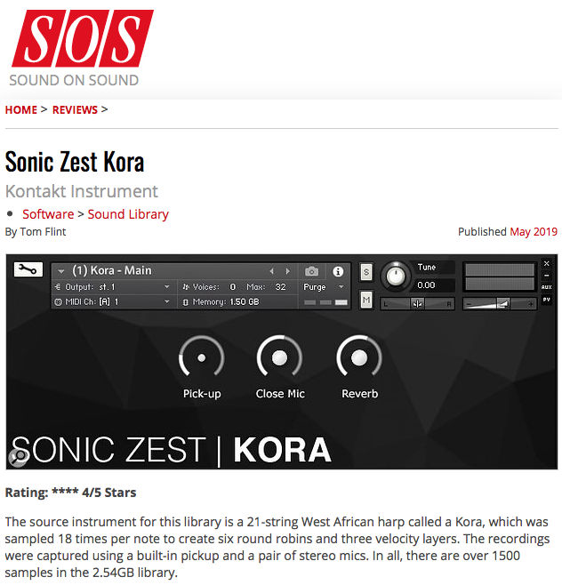 sound on sound sonic zest kora e1555712578726 - Reviews