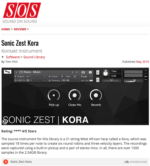 sound on sound sonic zest kora - Reviews