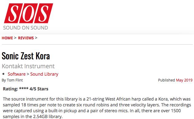 Kora [ A West-African Harp ] - Sonic Zest: Sample Libraries